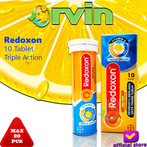 Foto Produk Redoxon Triple Action Isi 10 Tablet / MULTIVITAMIN / VITAMIN C dari Orvin Health & Beauty