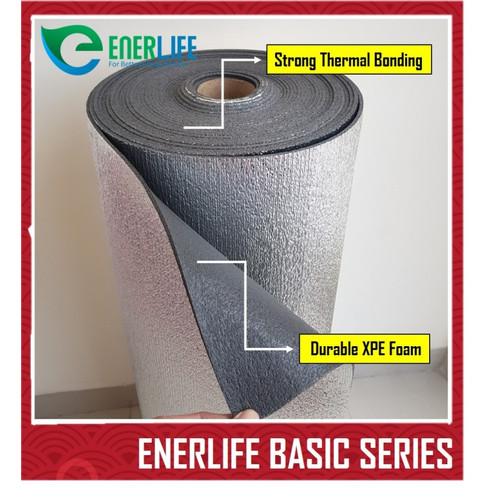 Foto Produk Aluminium Foil Thermal Foam Metalizing Foil 4mm Single Meteran B-4M1 dari Energy Life Indonesia