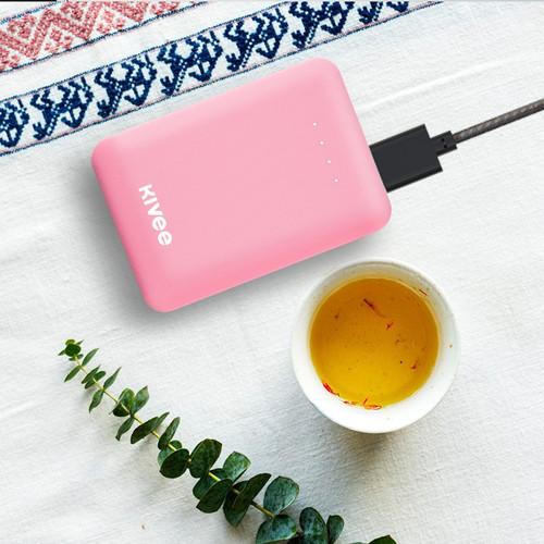 Foto Produk PowerBank Kivee 10000mah Mini Dual USB Fast Charging Phone PT32 - PT32 Putih dari Kivee Official Store