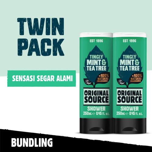 Foto Produk Original Source Shower Mint & Tea Tree 250ml Twin-Pack dari Cussons Official Store