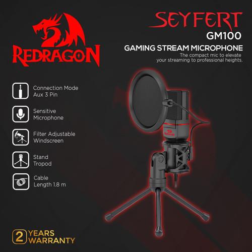Foto Produk Redragon Gaming Stream Microphone SEYFERT - GM100 dari REDRAGON INDONESIA