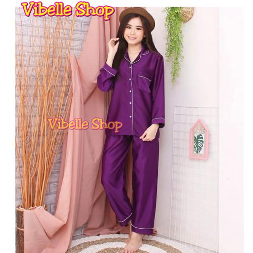 Foto Produk SATINPP - Satin Silky Velvet Vibelle shop grosir baju tidur piyama - UNGUTUA A dari Vibelle Shop