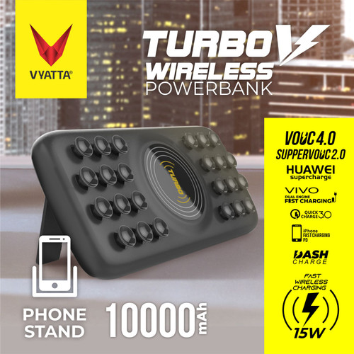 Foto Produk VYATTA TURBO V FAST WIRELESS 15W POWERBANK 22.5W VOOC&QC - PHONE STAND dari VYATTA PALEMBANG