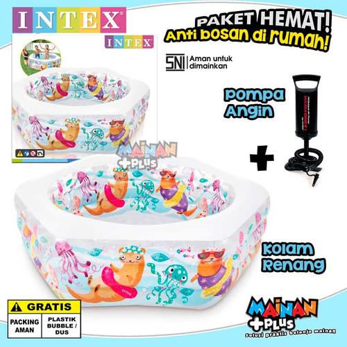 Foto Produk PAKET HEMAT KOLAM RENANG ANAK INTEX OCEAN REEF DAN POMPA SNI dari MainanPlus