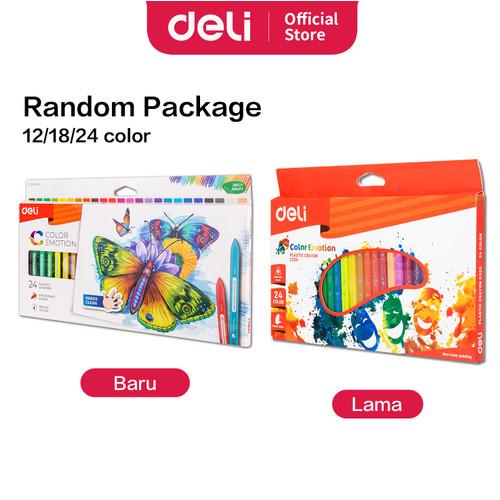 Foto Produk Deli EC20000 School Crayon/Krayon - Plastic Crayon Triangle 12C dari Deli Stationery