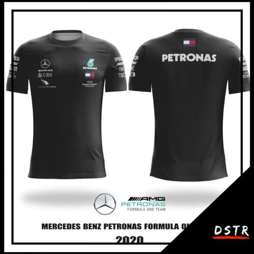 Foto Produk Kaos F1 Jersey F1 Formula One Mercedes Benz 2020 Full Print - Hitam, XS dari DISTRONGER