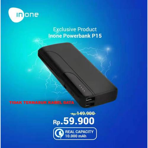 Foto Produk Inone Power Bank P15 10000mAh Palm Size Portable for Smartphones dari Inone Official Shop