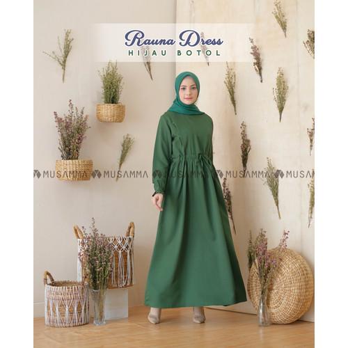 Foto Produk RAUNA DRESS by Musamma - HIJAU BOTOL, XL dari MUSAMMA MOSLEM WEAR