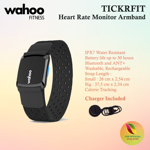 Foto Produk Wahoo TICKRFIT Heart Rate Monitor Armband ANT+ Bluetooth dari 3GB Official