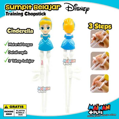 Foto Produk Sumpit Anak Karakter Perempuan Disney Learning Training Chopstick - Cinderella dari MainanPlus
