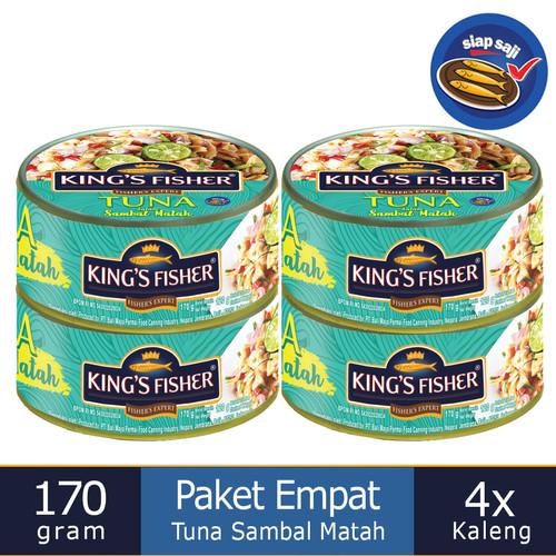 Foto Produk Paket 4 Pcs King's Fisher Tuna Sambal Matah Daging Tuna Makanan Kaleng dari Kings Fisher