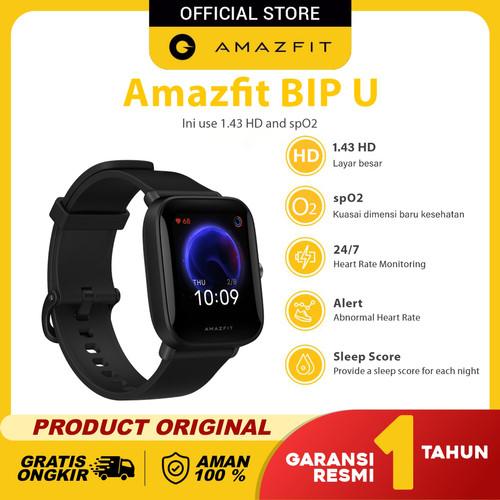 Foto Produk Amazfit Official Bip U Smartwatch Sport Jam Tangan Digital Smart Watch - Hitam dari Amazfit Official
