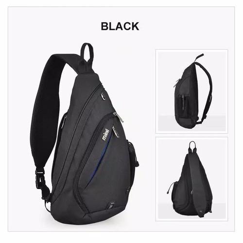 Foto Produk Tas Selempang Pria - LT04 Bag Hitam dan Abu Premium - Hitam dari Rits.Collection