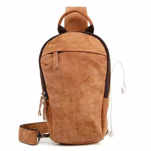 Foto Produk Tas Selempang Pria - LT01 Bag Coklat Premium - Cokelat dari Rits.Collection