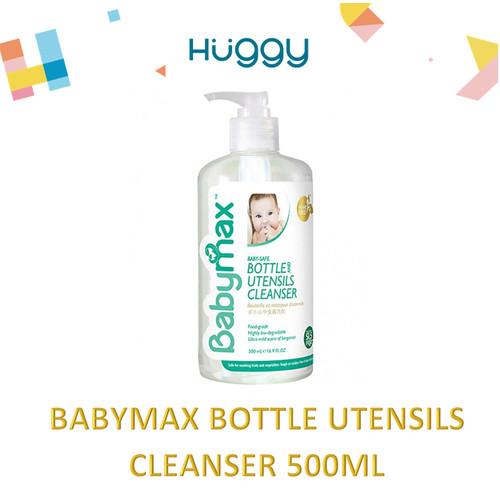 Foto Produk BABYMAX Bottle and Utensils Cleanser PUMP 500ml Sabun Cuci Botol dari Huggy Baby