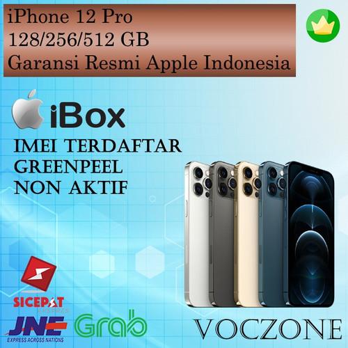 Foto Produk (IBOX) iPhone 12 Pro 128GB 256GB 512GB Garansi Resmi iBox Indonesia - Graphite, 128GB dari Voczone