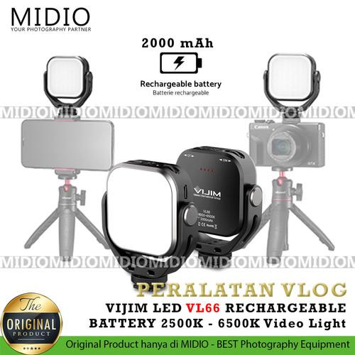 Foto Produk VIJIM LED VL66 RECHARGEABLE BATTERY 2500K - 6500K Video Light dari Midio