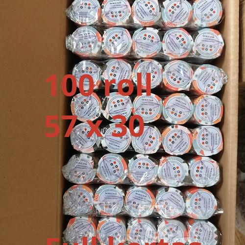Foto Produk kertas Thermal Paper Roll 57 x 30 57x30 Coreless 1dus dari smart buyer solution