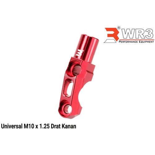 Foto Produk Dudukan Holder Spion or Mirror Holder WR3 Universal Rem Dan Kopling - Merah dari Xtreme Motor Sport
