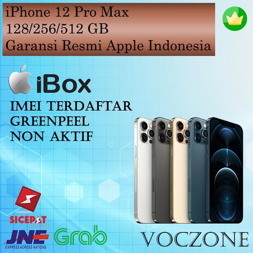 Foto Produk (IBOX) iPhone 12 Pro Max 128GB 256GB 512GB Garansi Resmi iBox - Pacific Blue, 128 gb dari Voczone