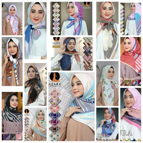 Foto Produk Hijab Kerudung Jilbab Segi Empat Katun Voal Motif AZARA Impor dari Colorvertia