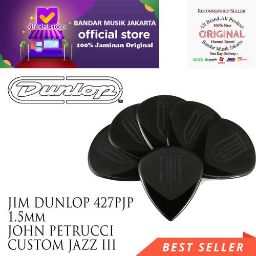 Foto Produk JIM DUNLOP 427PJP 1,5mm JOHN PETRUCCI CUSTOM JAZZ III GUITAR PICK dari Bandar Musik Jakarta BMJ