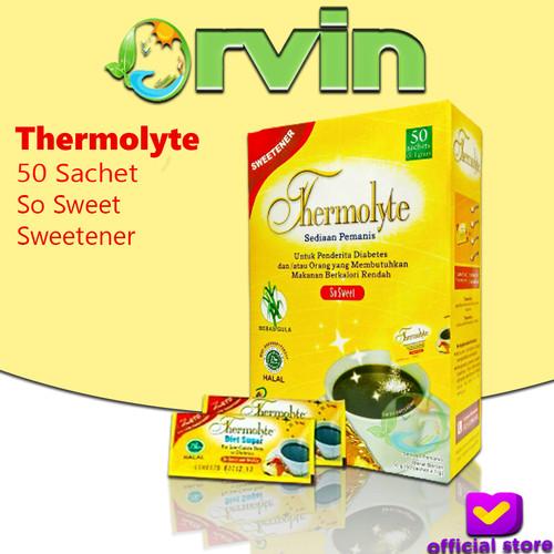 Foto Produk Thermolyte Sugar - Box isi 50 Sachet Gula Diet dari Tebu Alami dari Orvin Health & Beauty
