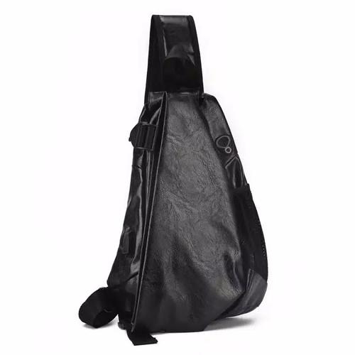Foto Produk Tas Selempang Pria - LT03 Bag Hitam Premium - Hitam dari Rits.Collection