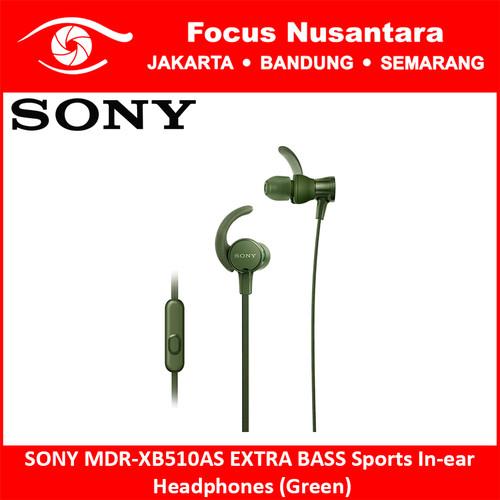 Foto Produk SONY MDR-XB510AS EXTRA BASS Sports In-ear Headphones (Green) dari Focus Nusantara