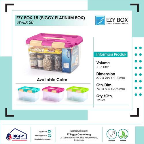 Foto Produk CONTAINER BOX EZY 15 L - Hijau dari Biggy x Ezy Official Store