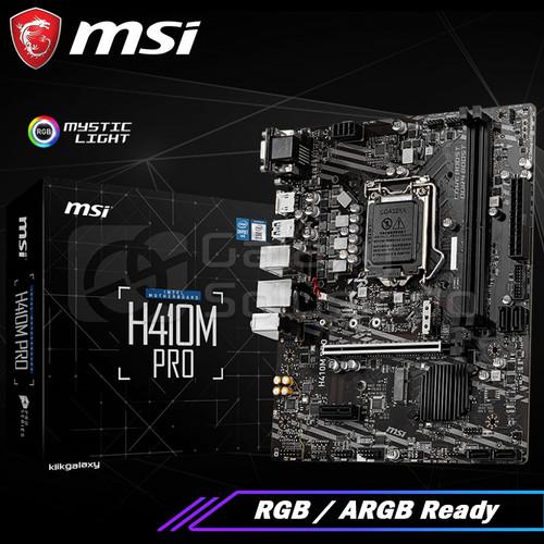 Foto Produk MSi H410M PRO (Intel LGA1200, H410, DDR4) - Comet Lake Motherboard dari MOBA GAMERS