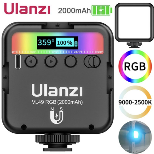 Foto Produk Ulanzi VL49 Mini RGB LED Video Light Portable Pocket photography Light dari H42ch