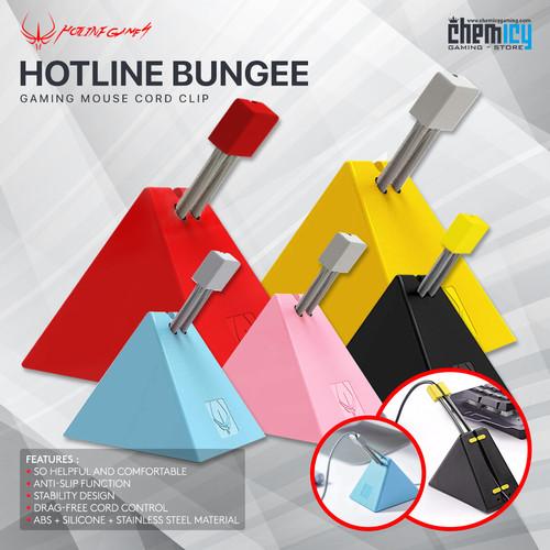 Foto Produk Hotline Mouse Bungee / Cord Holder / Camade - Black - Merah Muda dari Chemicy Gaming