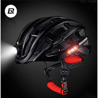 Foto Produk ROCKBROS HELM SEPEDA LIPAT MTB ROAD BIKE PLUS LAMPU LED CHARGE ZN100 - Hitam dari Adam Eve Gears