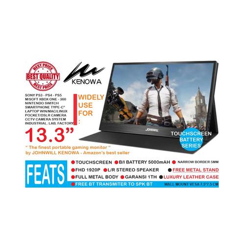 Foto Produk Touch Screen Gaming Monitor 13.3 INCH IPS HDMI USB POWERED- KENOWA K13 dari EtalaseBelanja