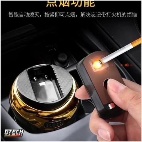 Foto Produk Premium Asbak rokok Mobil LED + Electric lighter - Car Ashtray dari Gtech Official