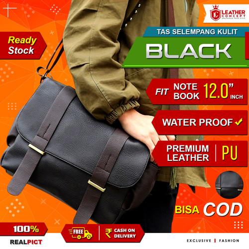 Foto Produk Tas Pria Tas Selempang Kulit Pria (BRAVO) dari Leather Concept