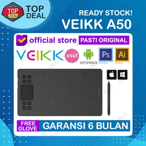 Foto Produk VEIKK A50 Digital Graphic Drawing Pen Tablet Alt S640 A15 A30 Star 03 - Tanpa Glove dari Top Deal