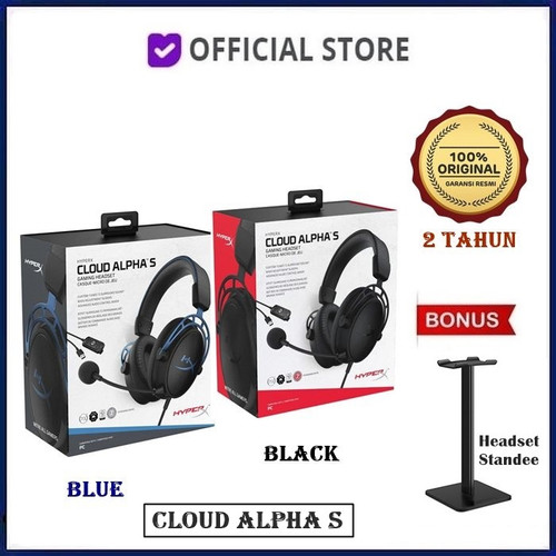 Foto Produk HyperX Cloud Alpha S 7.1 Surround Sound Gaming Headset - Biru, Unit Only dari DUNIA COMPUTER & SERVICE