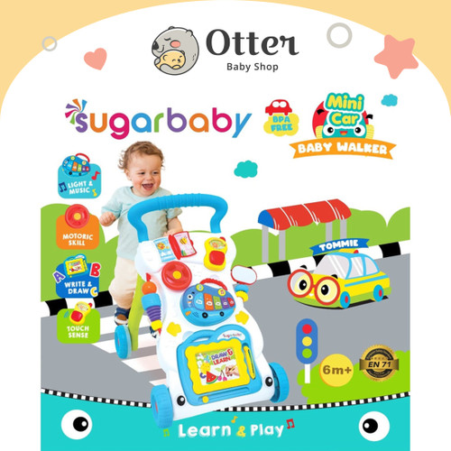 Foto Produk Sugar Baby Mini Car Push Walker (Baby Walker) - Tosca dari Otter Baby Shop