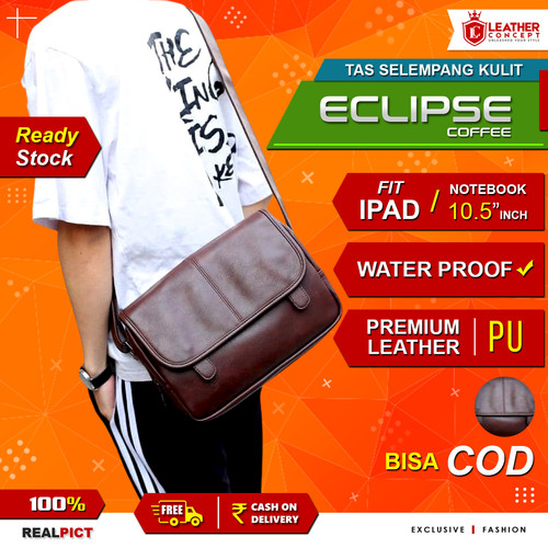 Foto Produk Tas Selempang Kulit Pria (ECLIPSE) - COFFEE dari Leather Concept