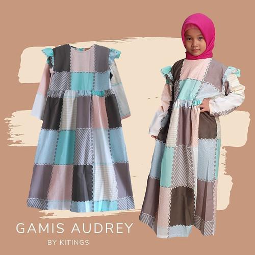 Foto Produk Gamis Audrey Gamis Katun Anak Tanggung 5-14 Tahun dari Kitings Palace