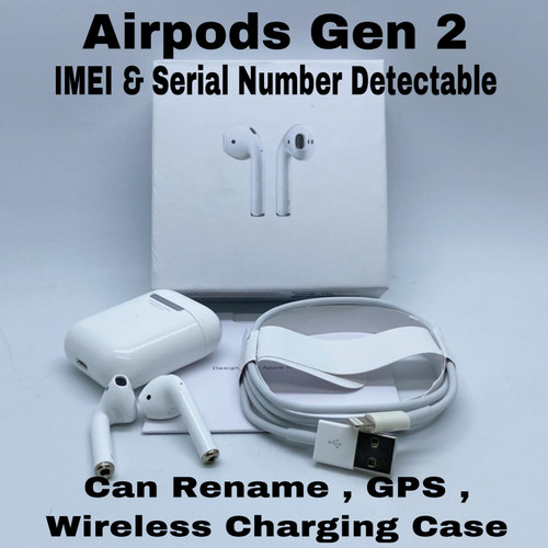 Foto Produk Headset Bluetooth Airpods 2 With Charging Case Apple OEM Clone 1 : 1 dari King Grosir Indo