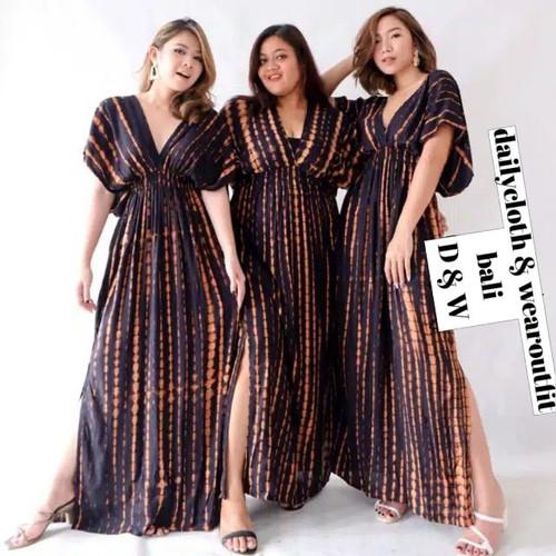 Foto Produk Longdress pantai bali /longdress tye die /baju santai dari bali - Cokelat dari dailycloth & wearoutfit