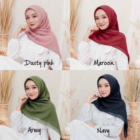 Foto Produk Bella Square New hijab segiempat - maroon dari NURHAKIM21