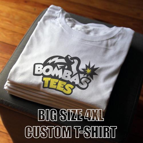 Foto Produk Kaos Sablon Big Size 4XL Custom T Shirt dari BOMBASTEES