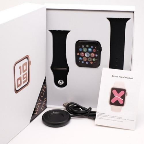 Foto Produk Jam tangan Smart watch T500 bluetooth smartwatch bukan Apple T500 - Hitam dari Ahokyahop