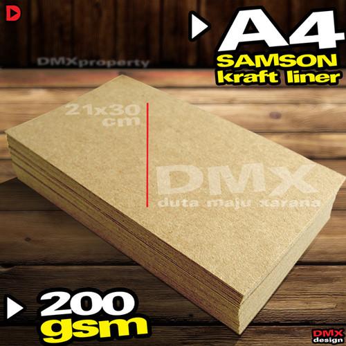 Foto Produk Kertas Karton Samson Kraft Liner A4 200 gsm 40 lembar dari Duta Maju Xarana