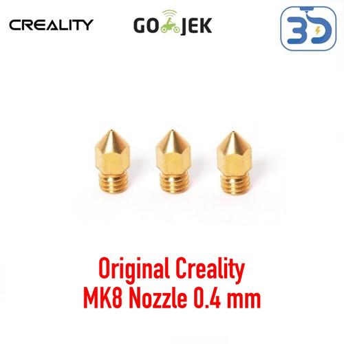 Foto Produk Reprap 3D Printer Makerbot MK8 M6 0.4/1.75 mm Brass Nozzle dari 3D Zaiku