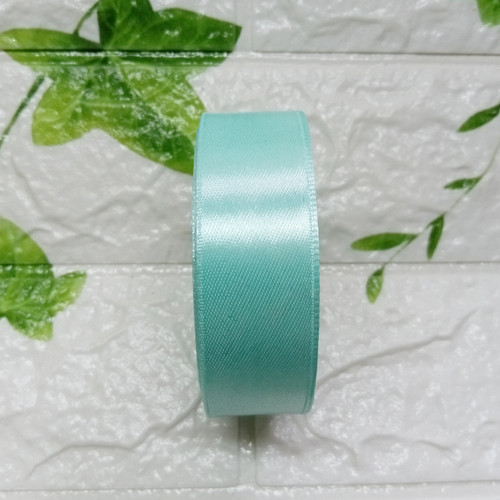 Foto Produk Pita Satin 1 Inch (2,5cm) warna pertama per roll - 4. Hijau Toska dari Kutique Craft